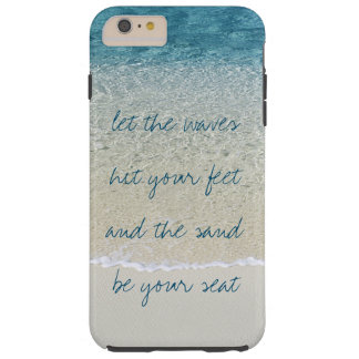 Inspirational Turquoise Blue Ocean Surf Waves Tough iPhone 6 Plus Case