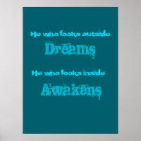 Inspirational Typography Awakening   Quote Poster