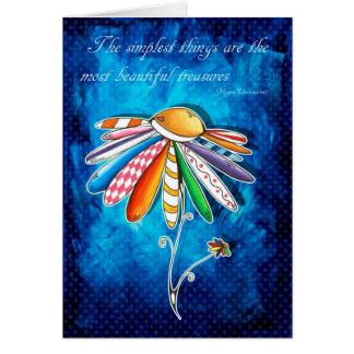 Inspirational Uplifting Encouraging Daisy Card