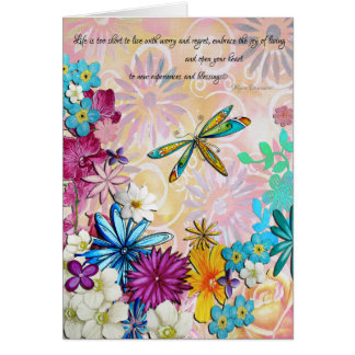 Inspirational Uplifting Encouraging Floral Card