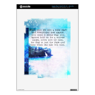Inspirational Uplifting Faith Hope Quote Decals For iPad 3