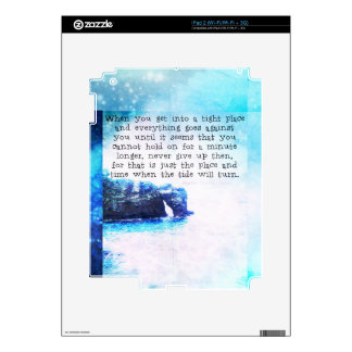Inspirational Uplifting Faith Hope Quote Skins For The iPad 2