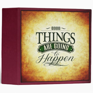 Inspirational Uplifting Quote Message Typography 3 Ring Binder