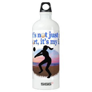 INSPIRATIONAL VOLLEYBALL IS MY LIFE DESIGN ALUMINUM WATER BOTTLE