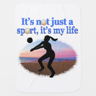 INSPIRATIONAL VOLLEYBALL IS MY LIFE DESIGN BABY BLANKET