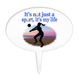 INSPIRATIONAL VOLLEYBALL IS MY LIFE DESIGN CAKE TOPPER