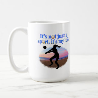 INSPIRATIONAL VOLLEYBALL IS MY LIFE DESIGN COFFEE MUG
