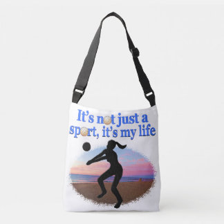 INSPIRATIONAL VOLLEYBALL IS MY LIFE DESIGN CROSSBODY BAG