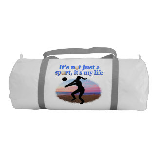 INSPIRATIONAL VOLLEYBALL IS MY LIFE DESIGN DUFFLE BAG