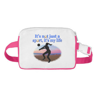 INSPIRATIONAL VOLLEYBALL IS MY LIFE DESIGN FANNY PACK