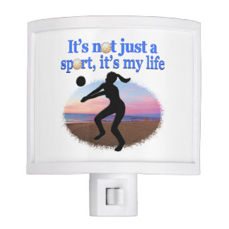 INSPIRATIONAL VOLLEYBALL IS MY LIFE DESIGN NIGHT LIGHT