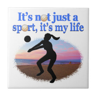 INSPIRATIONAL VOLLEYBALL IS MY LIFE DESIGN TILE