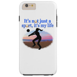 INSPIRATIONAL VOLLEYBALL IS MY LIFE DESIGN TOUGH iPhone 6 PLUS CASE