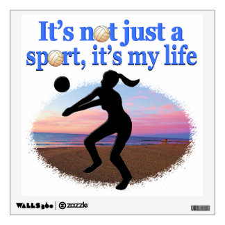 INSPIRATIONAL VOLLEYBALL IS MY LIFE DESIGN WALL STICKER