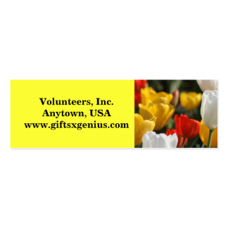 Inspirational Volunteer Appreciation Gift Mini Business Card