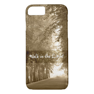 Inspirational Walk in the Light Bible Verse iPhone 8/7 Case
