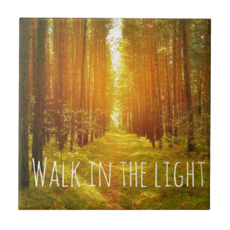 Inspirational Walk in the Light Bible Verse Tile