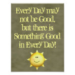 Inspirational wall art something good in every day posters