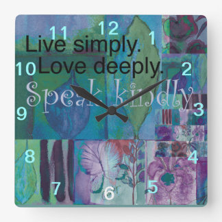 Inspirational Wall Clock