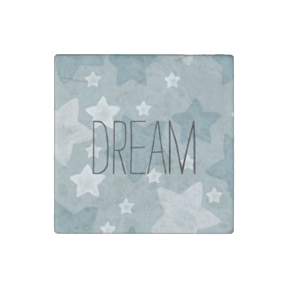Inspirational Watercolor Stars Stone Magnet