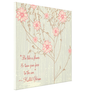 Inspirational Wild Flower Wrapped Canvas Stretched Canvas Prints