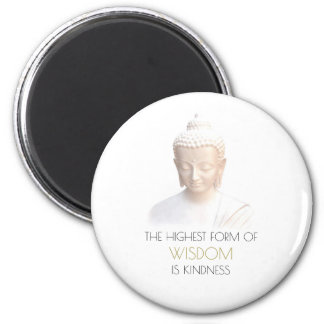 Inspirational Wisdom Quote With White Buddha Magnet