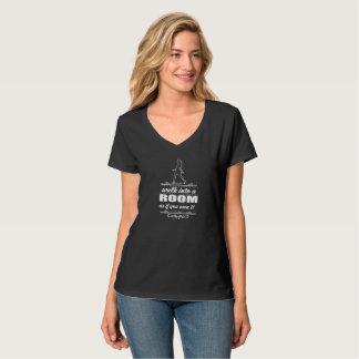 Inspirational Woman V-Neck T-Shirt White Design