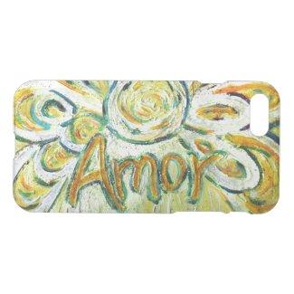Inspirational Word Amor Angel Art Phone Case