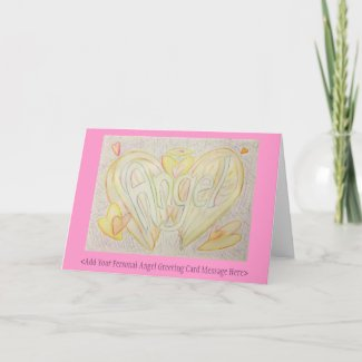 Inspirational Word Angel Art Custom Note Cards