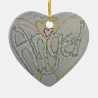 Inspirational Word Angel Art Custom Ornament
