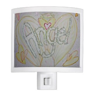 Inspirational Word Angel Art Night Light Lamp