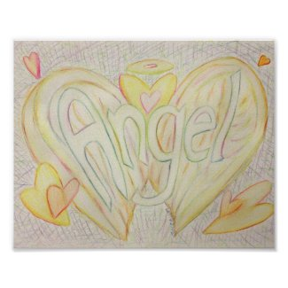 Inspirational Word Angel Art Poster Print