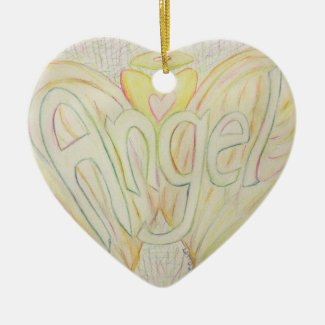 Inspirational Word Angel Custom Pendant Ornaments