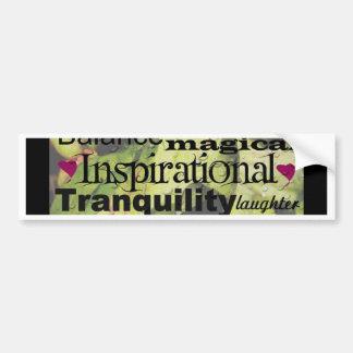 Inspirational Word Art Bumper Sticker