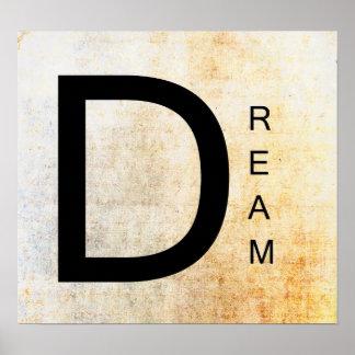 Inspirational Word Art- Dream Poster