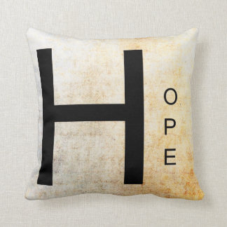 Inspirational Word Art- Hope Throw Pillow