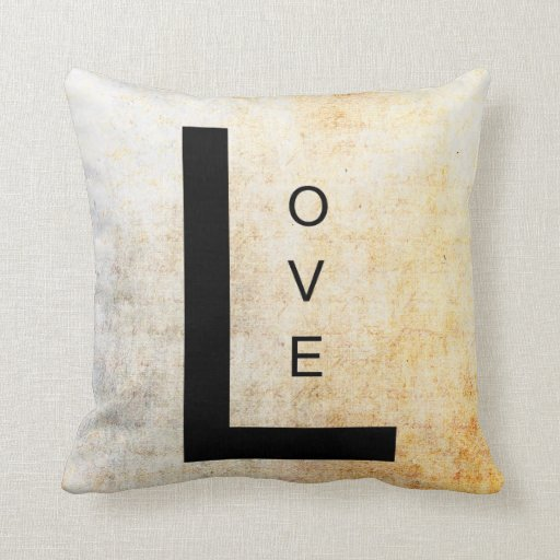 Throw Pillows With Words On Them : Inspirational Word Art- Love Throw Pillows Zazzle