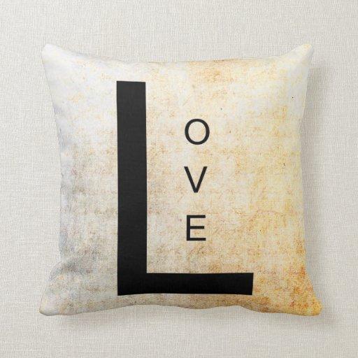 Inspirational Word Art- Love Throw Pillows Zazzle