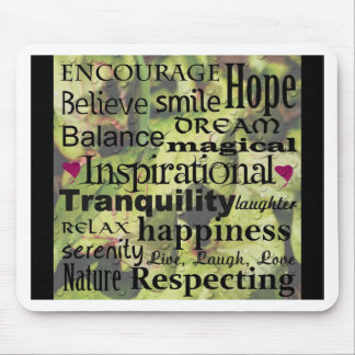 Inspirational Word Art Mouse Pad