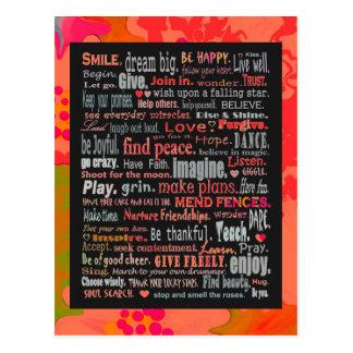 Inspirational Word Art Post Cards