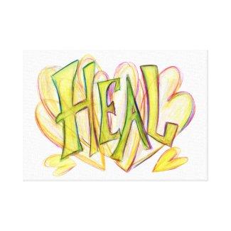 Inspirational Word Heal Art Canvas Print