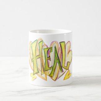Inspirational Word Heal Art Mug