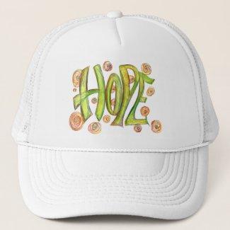 Inspirational Word Hope Art Hat