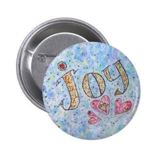 "Inspirational Word ""Joy"" Button"