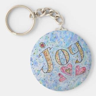 """Inspirational Word """"Joy"""" Keychain"""