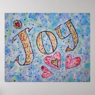 "Inspirational Word ""Joy"" Poster"