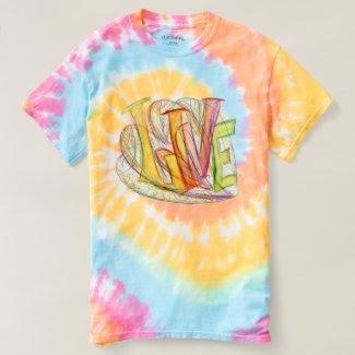Inspirational Word Live Art Tye Dye Shirt