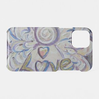 Inspirational Word Love Angel Art iPhone Case