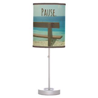 inspirational word pause beach theme desk lamps. Black Bedroom Furniture Sets. Home Design Ideas