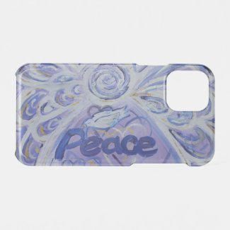 Inspirational Word Peace Angel Art iPhone Case